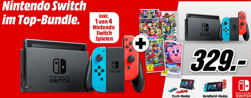 MediaMarkt-Prospekt: Bundle-Angebot für Nintendo Switch, PS4 und Xbox One