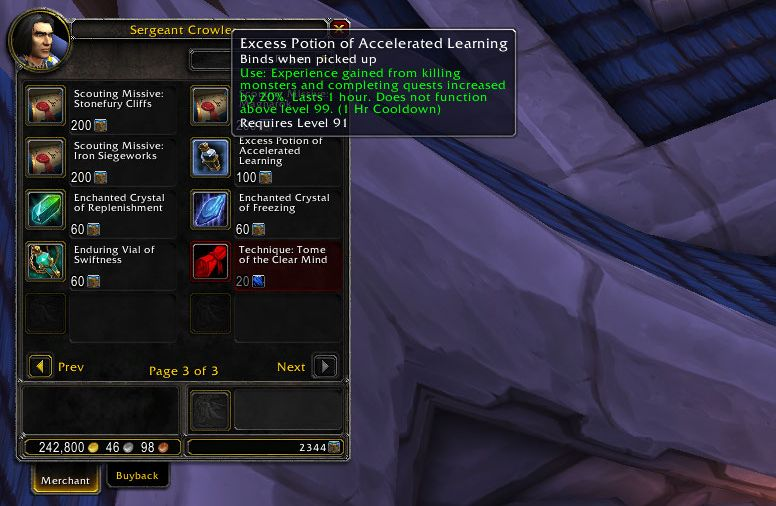 wow level guide garnison erfahrungs trank