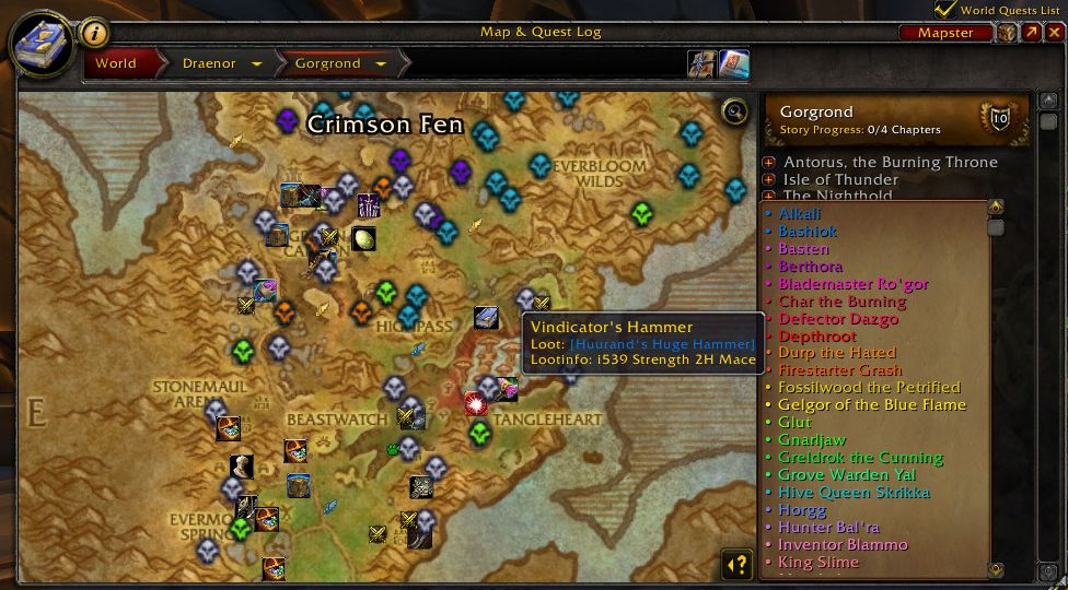 wow level guide karte mit npcscan und handynotes