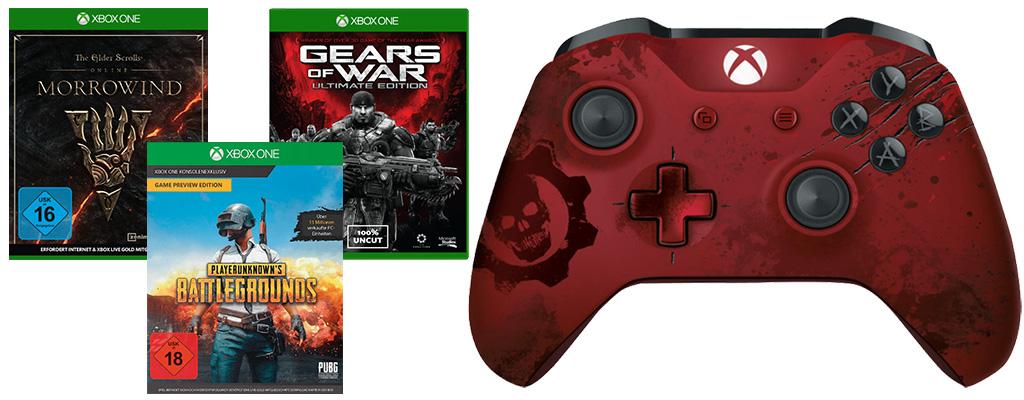 Super-Bundle im Angebot: Xbox Gears of War Controller mit drei Spielen