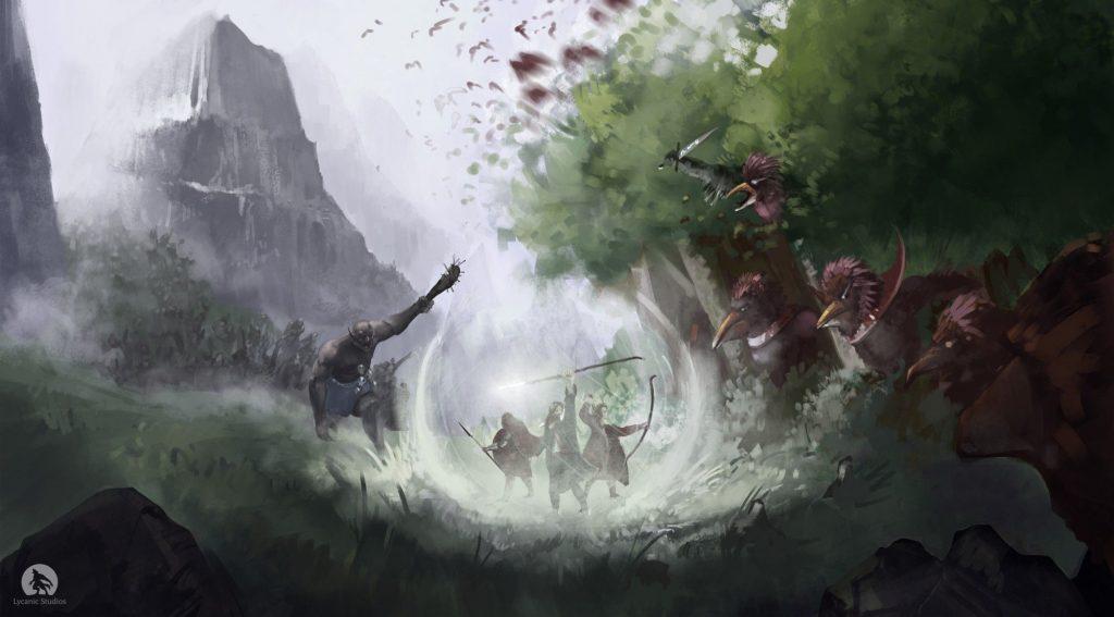 zeal-goru-vs-faera concept art