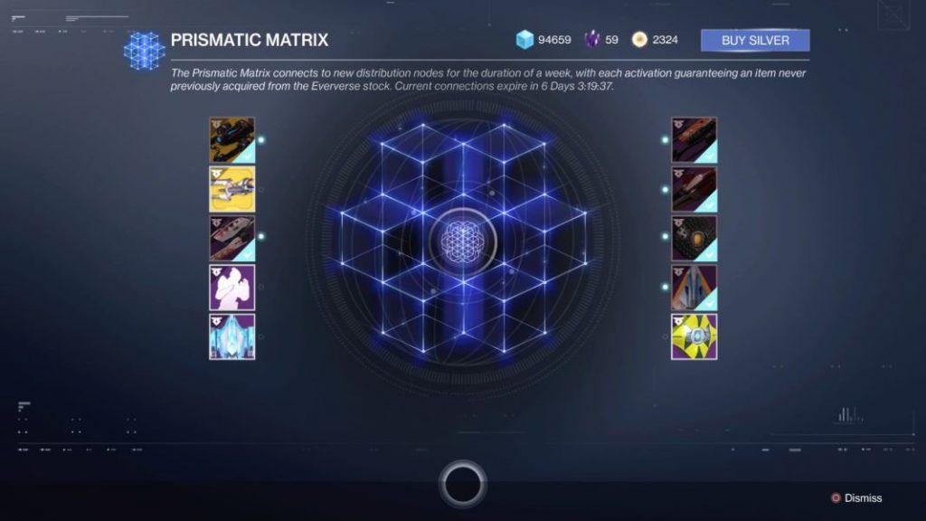 Destiny 2 prsimatische matrix
