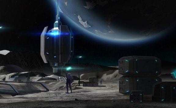 Dual Universe Concept Art Station auf dem Mond TItel