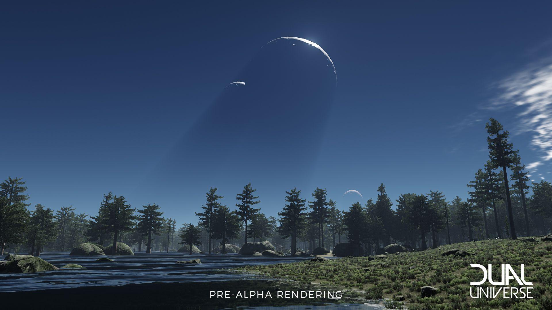 In Dual Universe seid ihr so frei, ihr könnt sogar den kompletten Mond abbauen