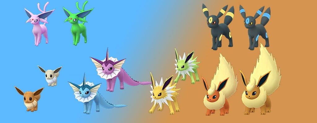 Pokémon GO Evoli Shiny Familie
