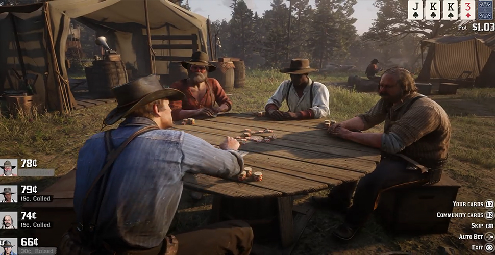 RDR 2 Pokertisch