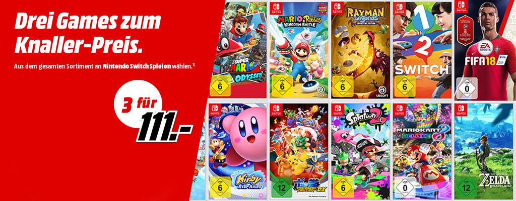 Nintendo Switch Spiele: Spart 80 Euro im MediaMarkt Prospekt