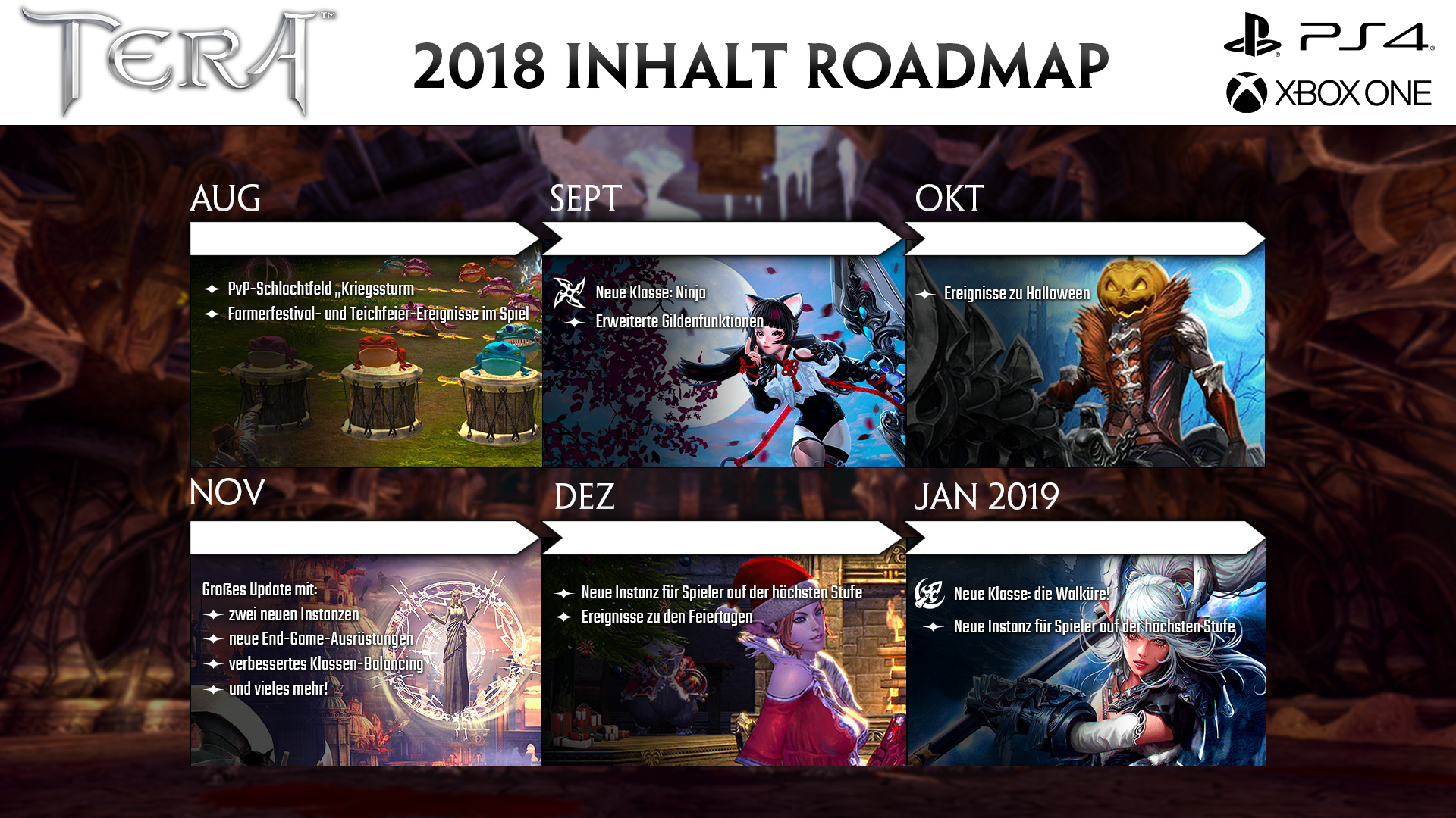 TERA Content-Roadmap 2018