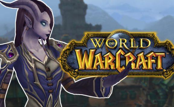 WoW Draenei Holding WoW Logo title