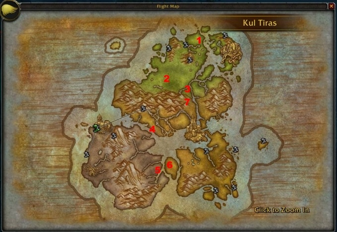 WoW Kul Tiras New Flightpaths
