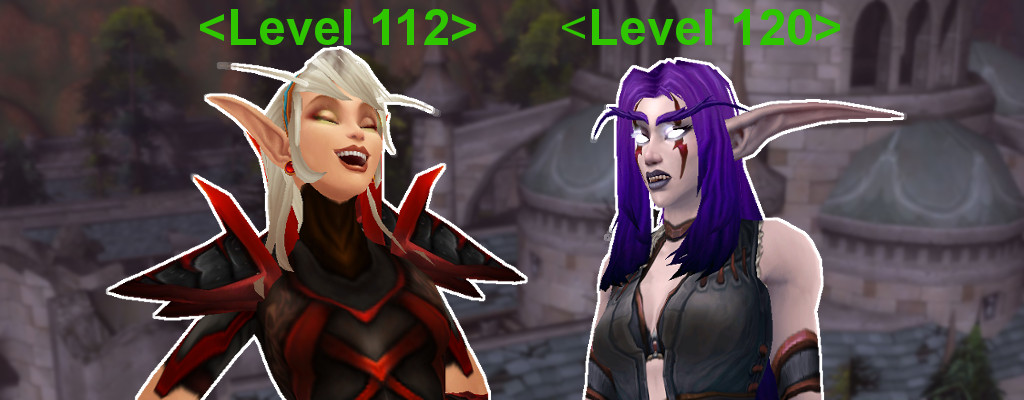 WoW Level Difference Elves title