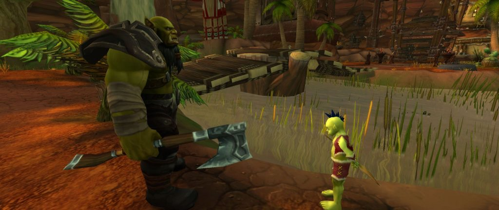 WoW Screenshot Mankrik und Boykrik God of War in Orgrimmar
