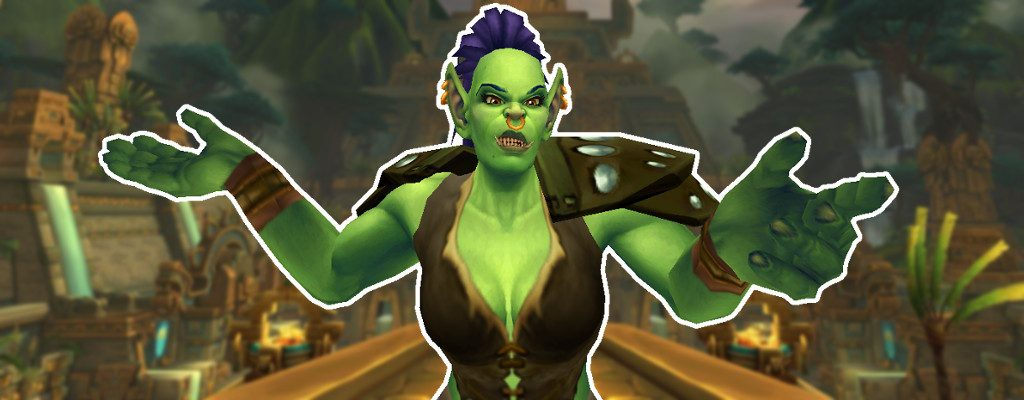 WoW Screenshot Zandalar Titel orc fragend