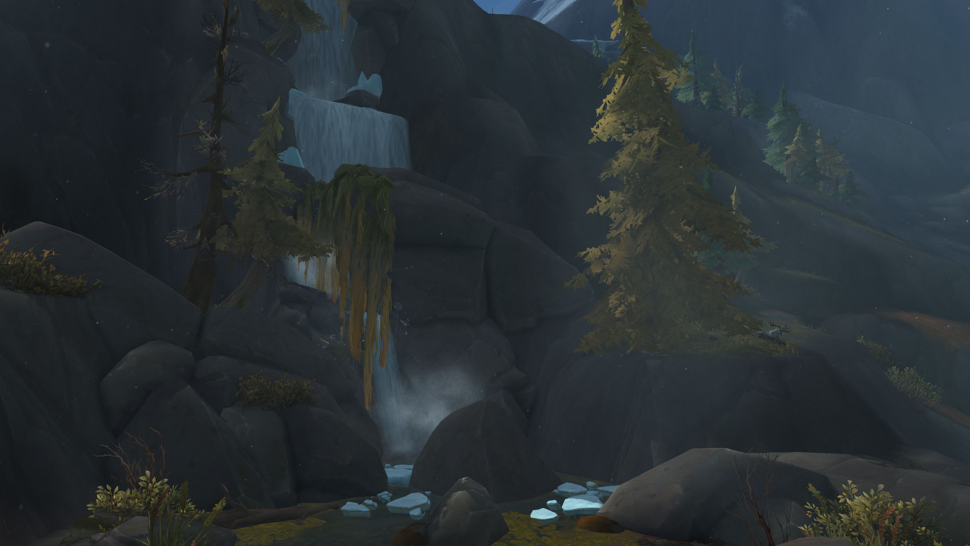 WoW Waterfall Hidden Cave