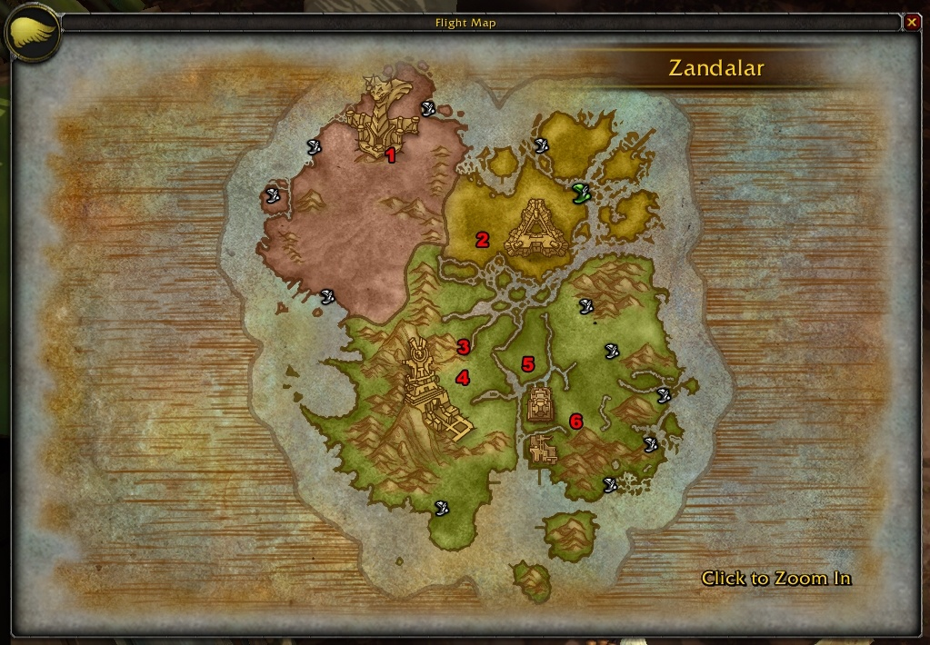 WoW Zandalar New Flighpaths