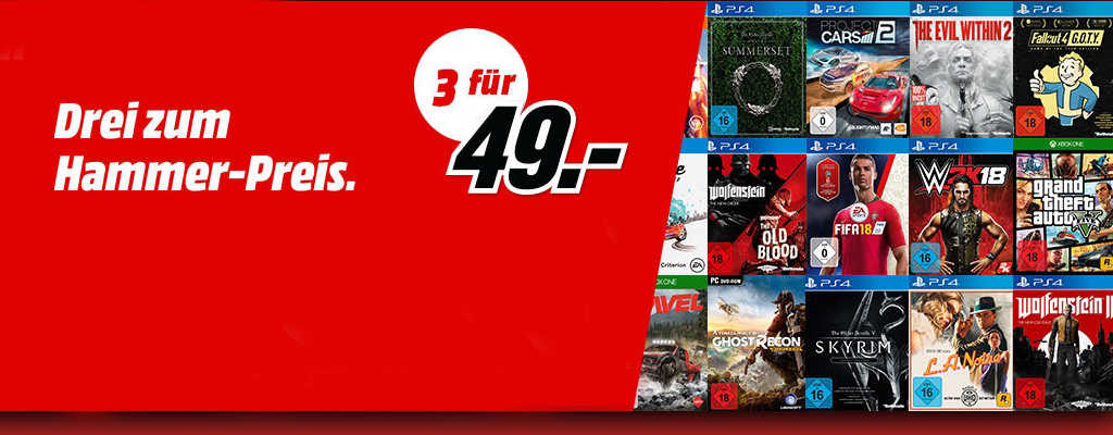 MediaMarkt Prospekt – Drei Spiele für 49 Euro
