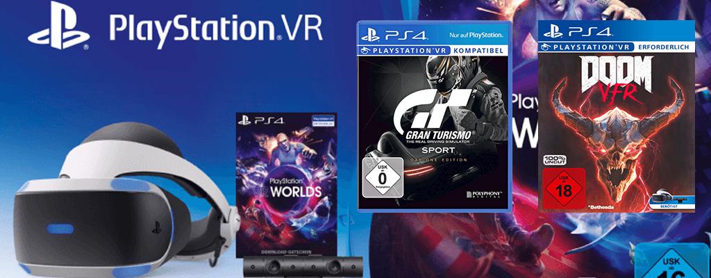 MediaMarkt Prospekt: PlayStation VR-Bundle mit DOOM und GT Sport für 249€