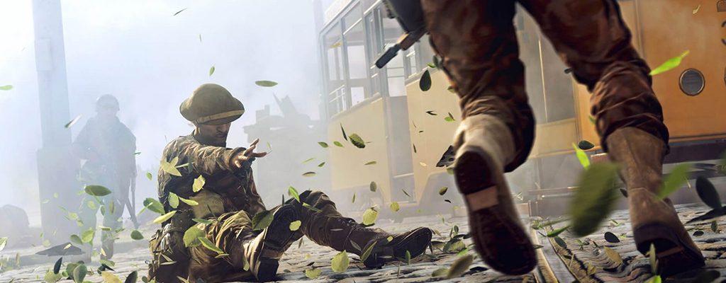 Battlefield 5 Titel Soldat am Boden