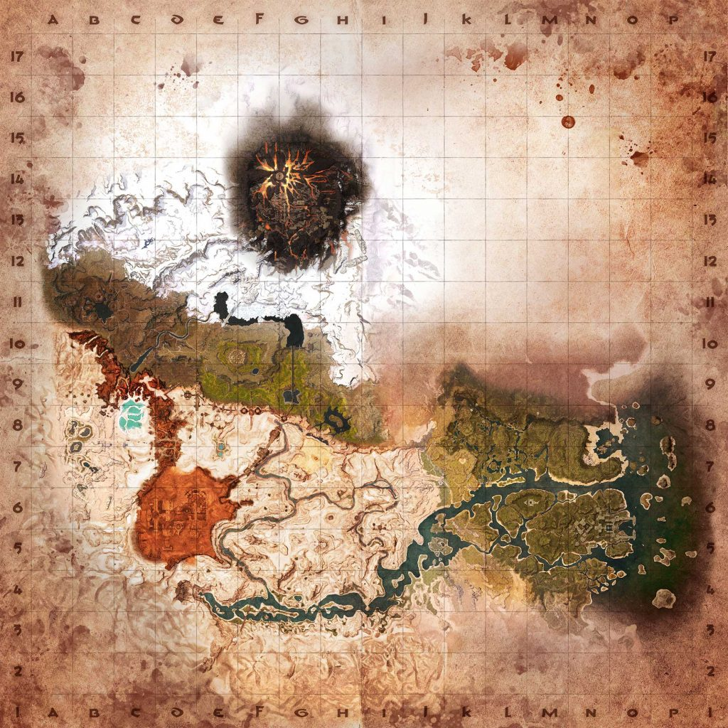 Conan Exiles Karte mit Gitter