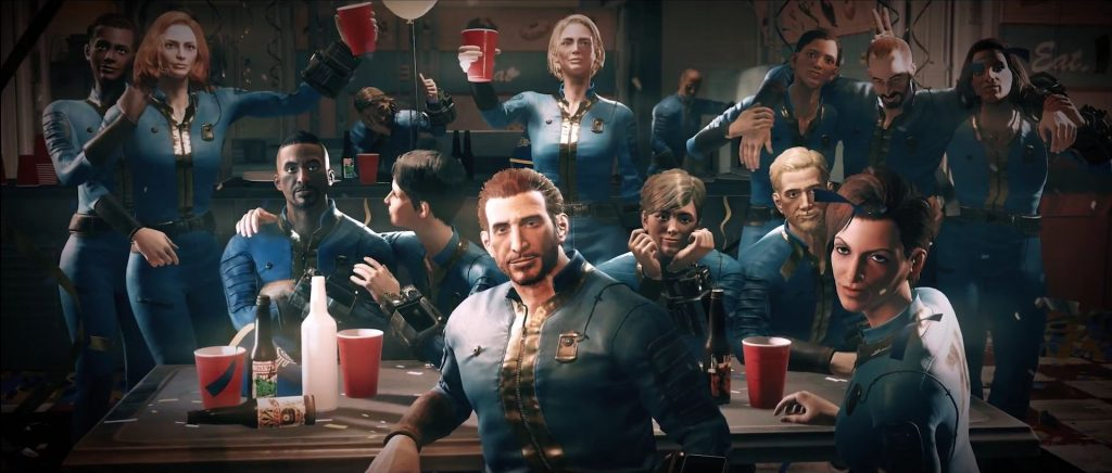 Fallout 76 CHeering People