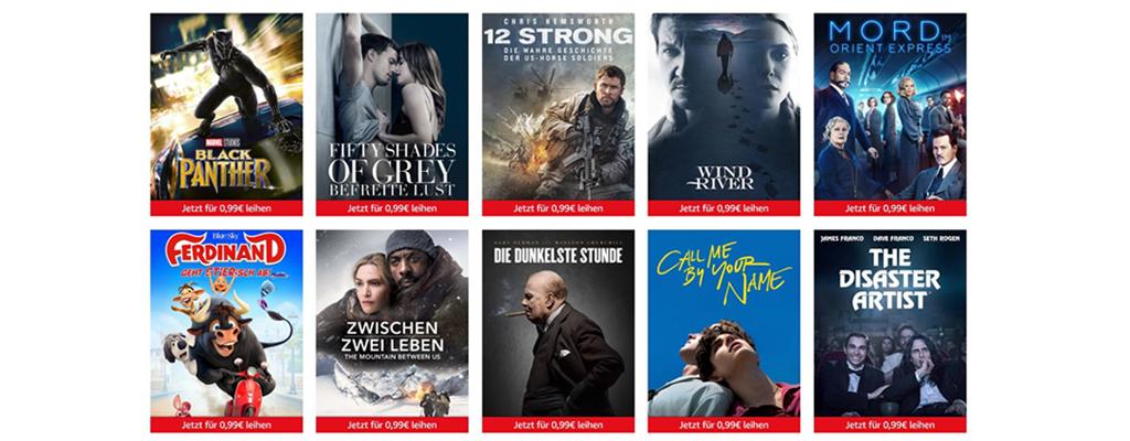 Filme für 99 Cent – Freitagsangebot bei Amazon
