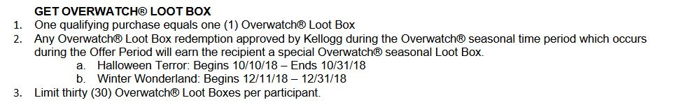 Kelloggs leakt overwatch event daten