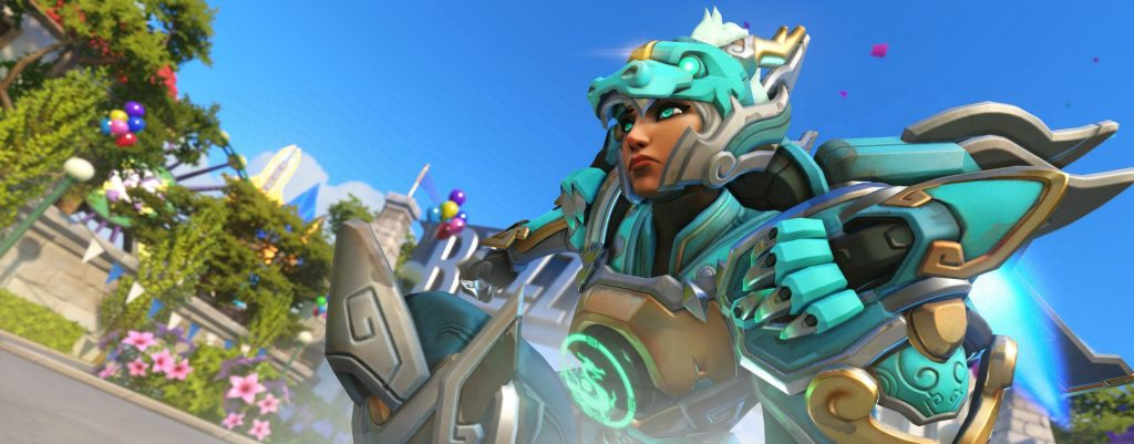 Overwatch Screenshot Pharah Highlight Intro Sichere Landung Titel