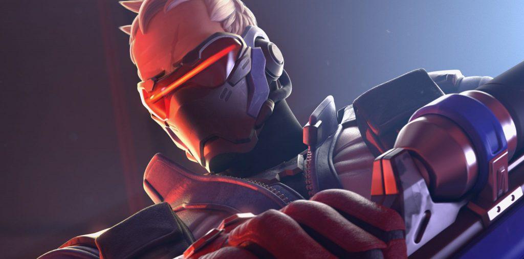 Overwatch-Soldier76-Poster Narbe zugeschnitten
