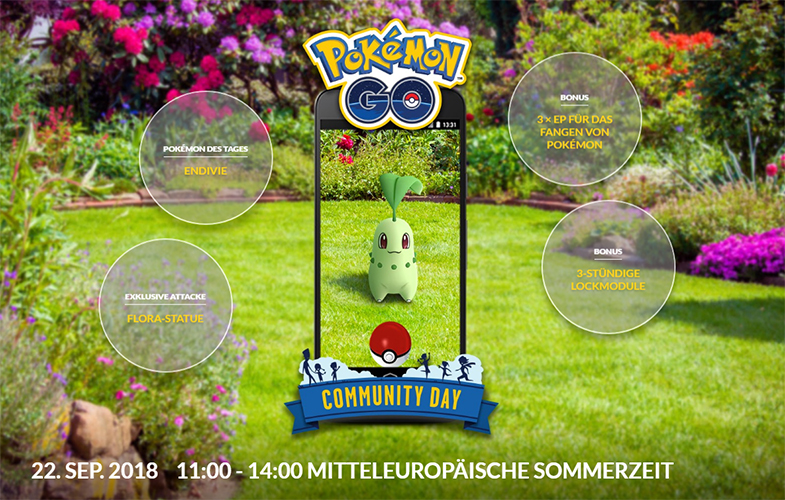 Pokémon GO Endivie Comm Day