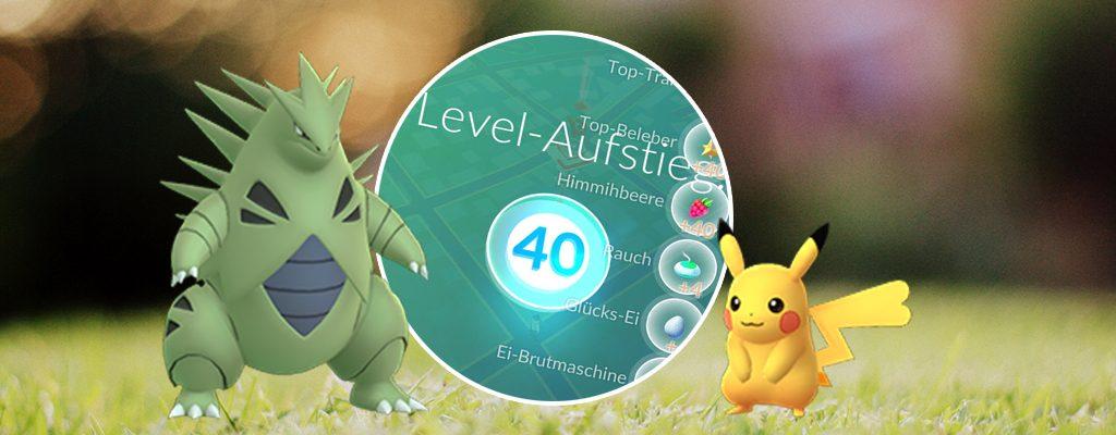 Pokémon GO Level 40 Titel