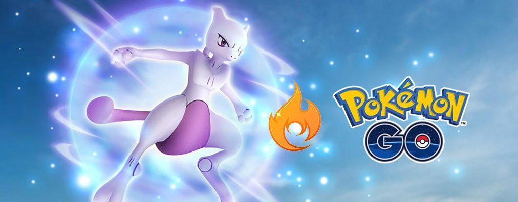 Pokémon GO Mewtu Feuer