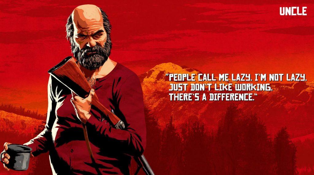 Red Dead Redemption 2 uncle Artwork