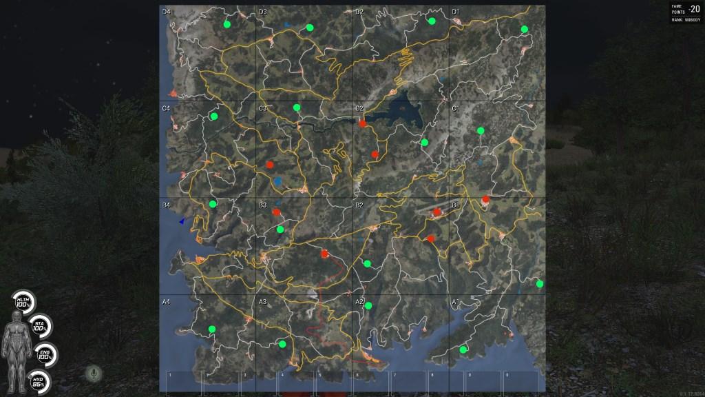 Scum Karte.Karte Für Scum Diese Loot Map Zum Spiel Zeigt Wo Es Fette Beute Gibt