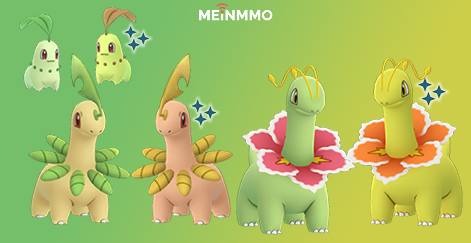 Pokémon GO Shiny Endivie Familie