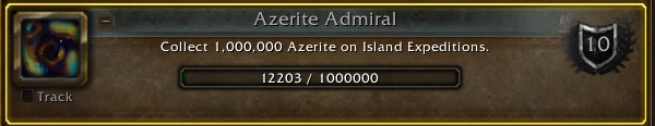 WoW Azerite Admiral Achievement Tracker