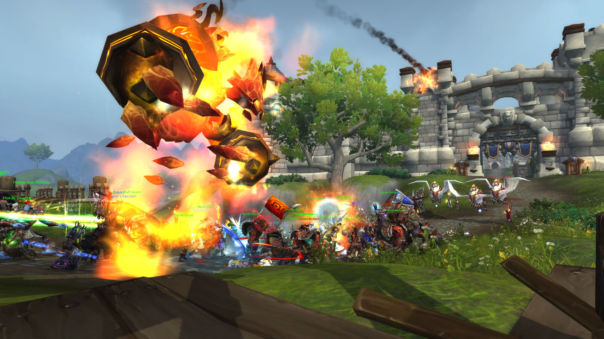WoW BfA Fire Elemental Stromgarde Warfront