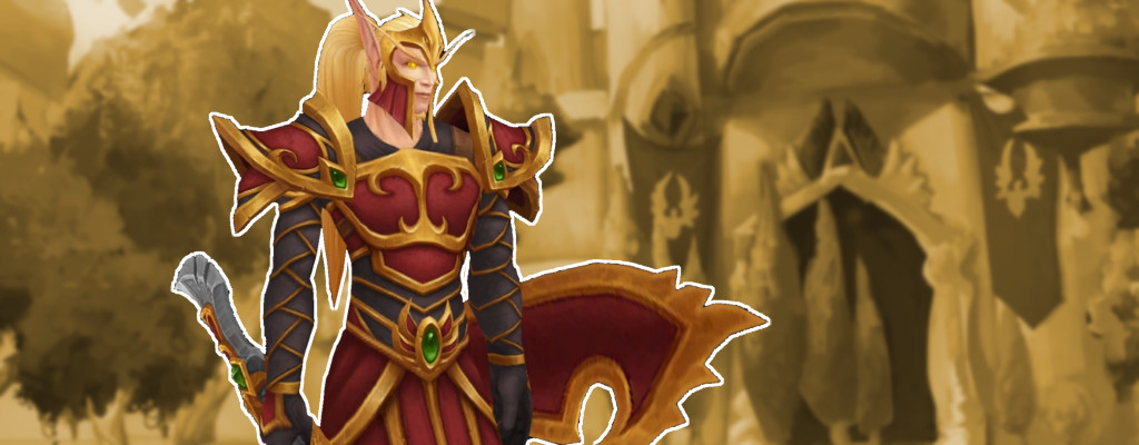 WoW Blood Elf Armor Guard title