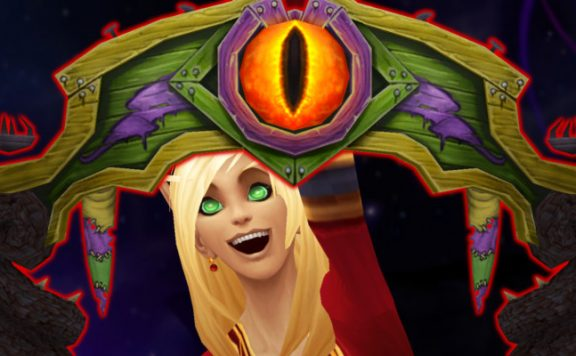 WoW Darkmoon Gate Blood Elf cheer title