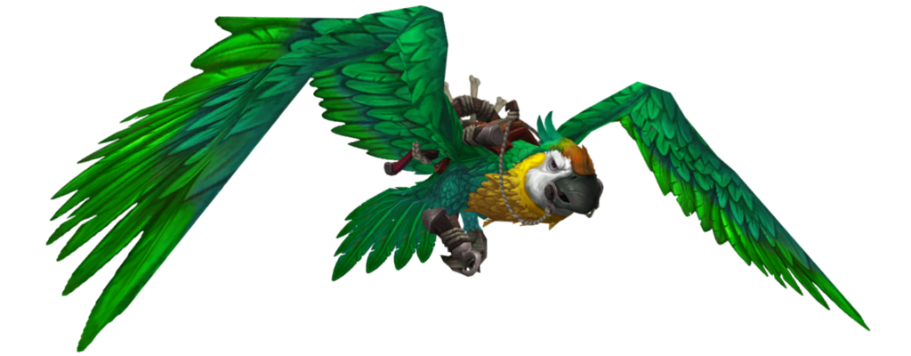 WoW Green Parrot Mount transparent