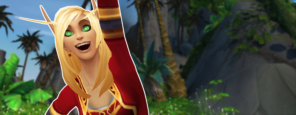 WoW Island Expeditions Blood Elf Cheer title