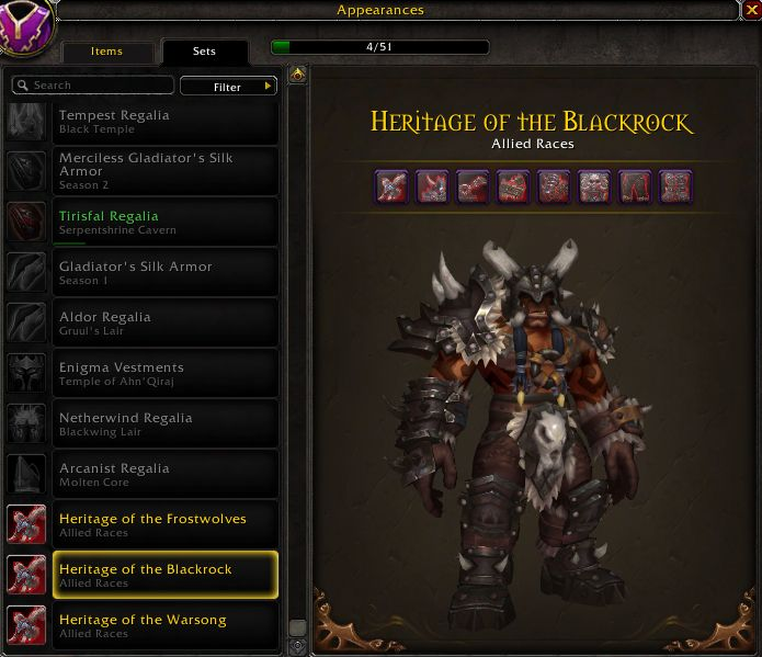 WoW Maghar Traditionsrüstung Blackrock