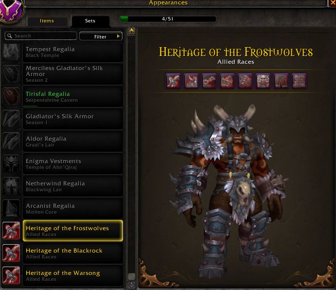 WoW Maghar Traditionsrüstung Frostwolves