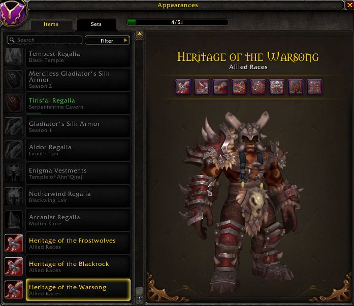 WoW Maghar Traditionsrüstung Warsong