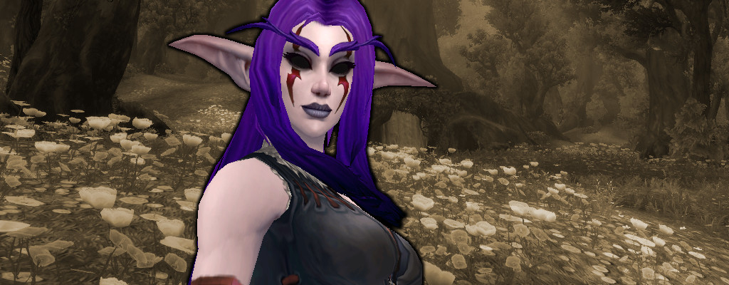 WoW Nightelf Black Eyes title