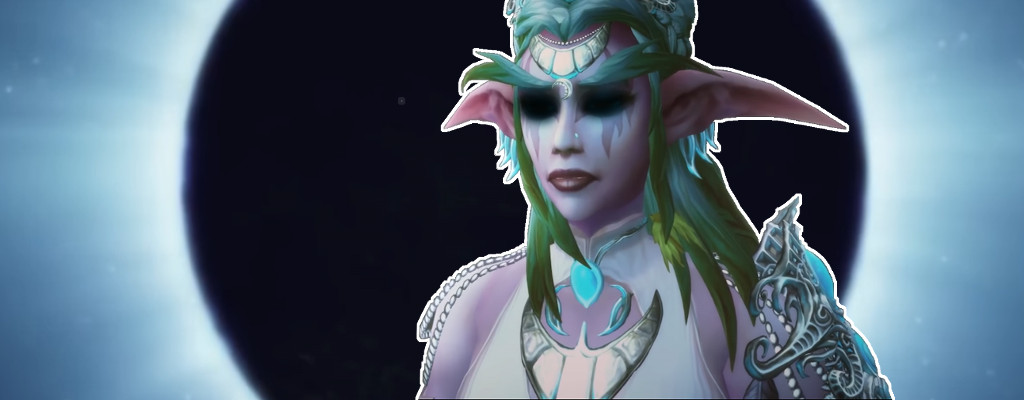 WoW Tyrande Black Eyes title