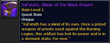 WoW Xalatath Quest Item