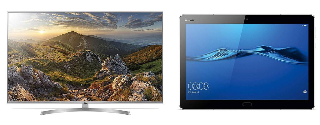 LG UHD-Fernseher und Huawei-Produkte im Tagesangebot bei Amazon