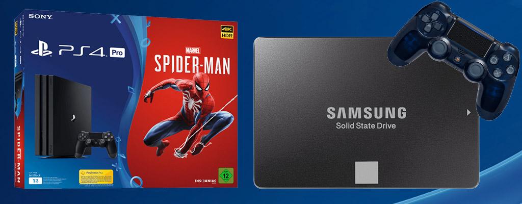 MediaMarkt Prospekt Angebote: Samsung SSD und PS4 Pro mit Spider-Man