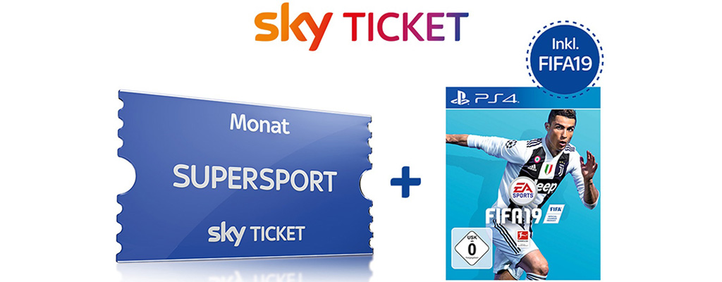 2 Monate Sky Supersport Ticket mit FIFA 19 PS4 für einmalig 59,99 Euro