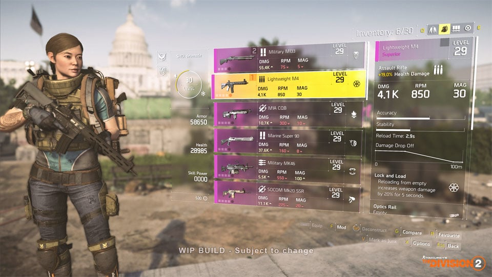 the division 2 weapons 1